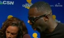 Draymond Green Gets Weird, Slams Cavs at Parade (Video)