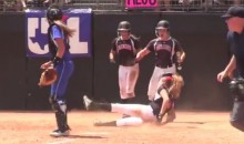 Female Softball Catcher Is The Dirtiest Player Ever: Find Out Why (Video)