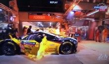 Ferrari Catches Fire During 24 Hours of Le Mans Pit Stop (Video)