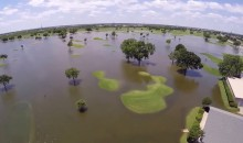 Drone Gives Bird's-Eye-View of Flooded Golf Course in Texas (Video)