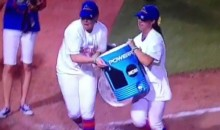 Florida Gators Softball Team Gives Saddest Gatorade Shower Ever (Video)