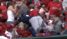 Brewers Hector Gomez Goes Flying Face-First Into The Stands (Video)