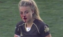 Hot Female Rugby Player Breaks Nose, Makes Tackle, Is Still Hot (Video)