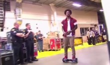 JR Smith Segway Crashes the NBA Finals (Video)