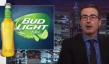 John Oliver Celebrates FIFA Scandal with Bud Light Lime (Video)