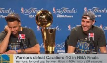 "Klay Thompson Throws Shade on LeBron with ""Best Player in the World"" Quip at Post-Game Press Conference (Video)"