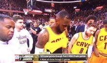 Did LeBron James Just Flash His Junk on Live TV? (Video)