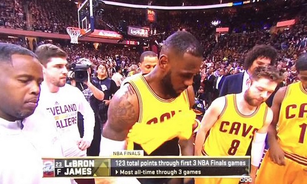 Watch: LeBron James Wardrobe Malfunction From Game 4 | Total Pro Sports