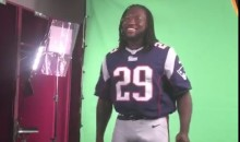 LeGarrette Blount's Bulge Can't Be Contained During Patriots All-Access Shoot (Video)