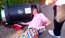 Man Gets Head Stuck in Trashcan at Golf Tourney. Yup. (Video)
