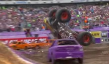 Monster Truck Driver Hits a Front-Flip, but Doesn't Get Record (Video)