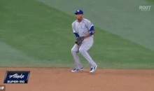 OUCH! Alcides Escobar Takes a Grounder Right to the Junk (GIF)