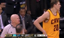 Referee Joey Crawford Tells Timofey Mozgov to 'Shut Up' (Video)