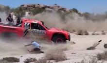 Robby Gordon Runs Over Spectator at Baja 500 (Video)