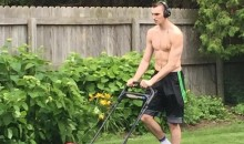 After Being Drafted, Sam Dekker Still Has Lawn Duties (Pic)