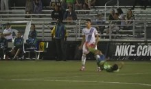 Sergio Mota Receives Red Card For Two-Footed Groin Kick (Video)