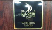Someone Keeps Screwing With Webb Simpson's US Open Nameplate