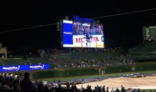 Hawks' Game 5 Win Played on Wrigley Video Board During Rain Delay