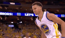 Watch Steph Curry Mean Mug Dellavedova Following a Three (GIF)