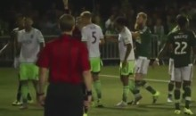 Sounders' Clint Dempsey Rips Refs' Notebook, Gets Red Card (Video)