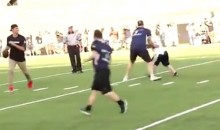 Tom Brady Throws TD Pass to Boy With Down Syndrome (Video)