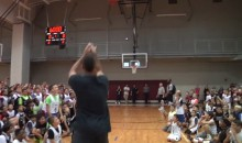 Tony Parker Drains Half-Court Shot, Gets Mobbed by Kids (Video)