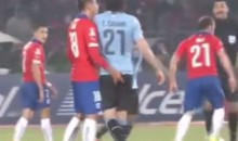 Chile's Gonzalo Jara Sexually Assualted Uruguay's Edinson Cavani During the Copa America Quarterfinals (Videos)