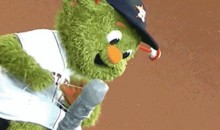 Good God What Is Orbit the Houston Astros Mascot Doing? (GIF)