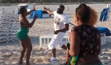 Junior Galette Video Show Saints Linebacker Beating a Woman with a Belt on Miami Beach (Video)