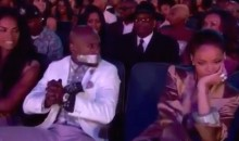 Rihanna Duct Tapes Floyd Mayweather's Mouth Shut at BET Awards (Videos)