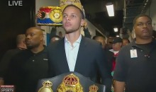 Steph Curry Carried Andre Ward's Title Belt Before His Fight Against Paul Smith on Saturday (Video)