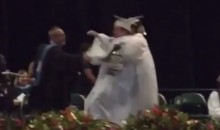 Awesome High School Kids in Trouble After Performing Stone Cold Stunner at Graduation (Video)
