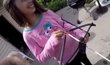 Little Girl Uses a Slingbow to Remove Her Loose Tooth (Video)