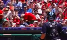 A Phillies Fan Took a Flying Bat to the Face Yesterday (Video)