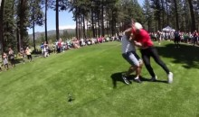 A.J. Hawk Nearly Kills a Man at a Golf Tournament (Video)