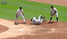 Watch Alex Rodriguez Barrel Roll Into Home Plate (GIF)
