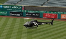 Angels Use Helicopter to Dry Field For Doubleheader (Video)