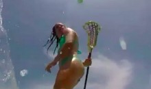 Bikini Clad Surfer Chick Is Also a Lacrosse Chick (Video)