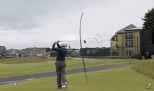 British Open Leader Hits Hotel With Tee Shot on 17th (Video)