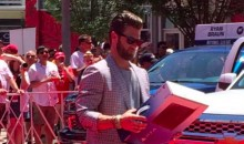 Bryce Harper Handed Out a PS4 at the ASG Parade (Video)
