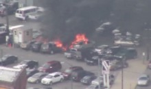 Cars Burst Into Flames Outside Comerica Park (Video)