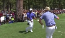 JT and Alfonso Ribeiro Bust Out 'The Carlton' at Golf Tourney (Video)