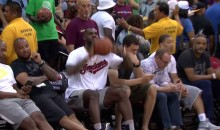 LeBron James Nails Shot While Sitting In Courtside Seat (Video)