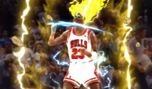 Michael Jordan Goes Super Saiyan After Hitting 'The Shot' (Video)