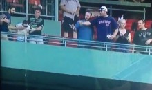 Red Sox Fan Pukes On Fans Seated Below Him (Video)