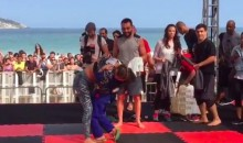 Ronda Rousey Gets Attacked by Adorable Little Fan (Video)