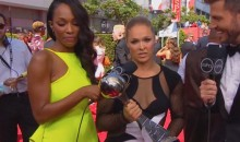 Ronda Rousey Takes Jab at Floyd Mayweather on ESPY Red Carpet (Video)