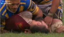 Rugby Player Bites Another's Finger, Gets Punched (Video)