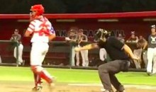 Umpire Breaks Out 'the Whip' on Strike Three Call (Video)