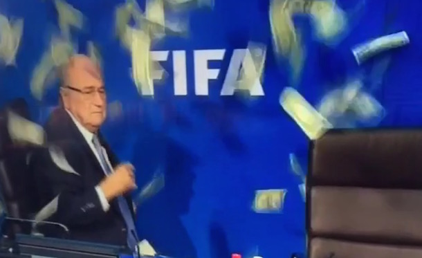 Sepp Blatter make it rain